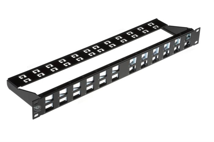 brand rex 24 port cat6a 10gplus angled modular patch panel. Black Bedroom Furniture Sets. Home Design Ideas