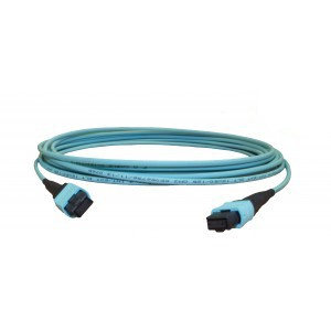 1m MTP/MPO Patch lead OM3 12 Fibre Female A type
