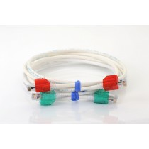 Red Secure RJ45 CAT6 patch cable 1m