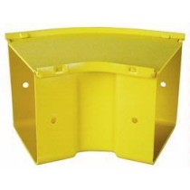 45 Degree Horizontal Bend 200mm Yellow