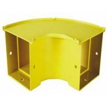 90 Degree Horizontal Bend 50mm Yellow