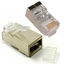 CAT6 STP Crimp Connector RJ45 Plug, Shielded