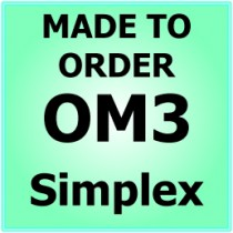 Made to order OM3 10G 50/125 Multimode Simplex Fibre Patch Cable