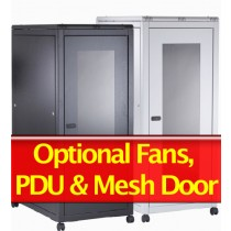 36U Server Rack Cabinet 600mm X 1000mm Grey/Black