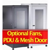 30U Data Rack Cabinet 600mm X 600mm Grey/Black