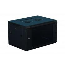 6U Data Wall Mount Cabinet  Black 600mm x 450mm