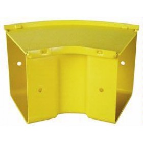 45 Degree Horizontal Bend 300mm Yellow