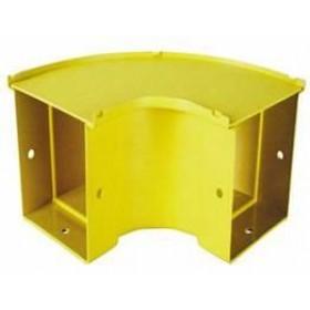 90 Degree Horizontal Bend 50mm Yellow
