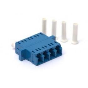 LC singlemode Quad Ceramic Sleeve Bulkhead adaptor