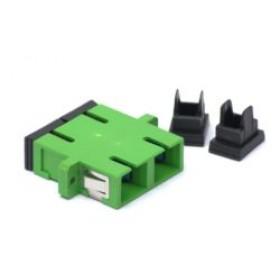 SC/APC singlemode Dual Ceramic Sleeve Bulkhead adaptor
