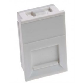25 X 50mm Shuttered Euro Keystone  Module White