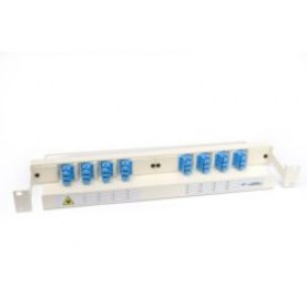 Optical Fibre Patch Panel & management tray 1U 24 Way SC with adaptors