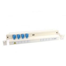 Fibre Patch Panel & management tray 1U 12 Way SC with adaptors