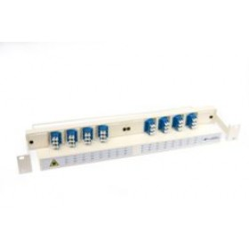 Fibre Patch Panel & management tray 1U 48 Way LC with adaptors
