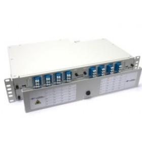 Fibre splice Patch Panel 2U 48 Way LC Singlemode - adaptors & pigtails