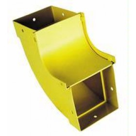 90 Degree Vertical Inside (up) Bend Yellow 100mm