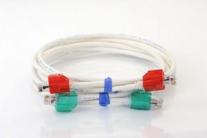 Clear Secure RJ45 CAT6 patch cable 1m