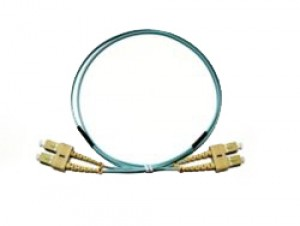 SC - SC Multimode fibre patch cable 50/125 OM3 Duplex 0.5m