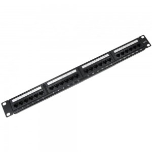 1U 24 Port Cat6 Patch Panel