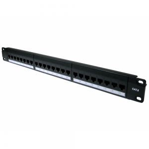 24 Way Cat6 Through Coupler Patch Panel - 1u