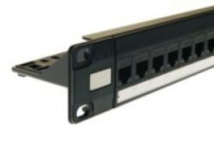 24 Way RJ45 Cat5e Through Coupler Patch Panel - 1u
