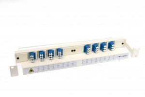 Angled Up to 48 Way LC Fibre Patch Panel & management tray (unloaded)