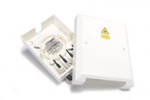 4 Way FC / ST Optical Fibre Termination Box Unloaded