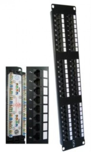 48 port cat5e punch down patch panel