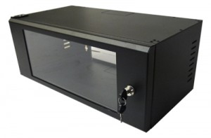 "4U Wall Mount Data Cabinet - 19"" Rack Black 530mm x 270mm"