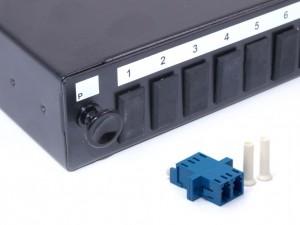 LC fibre patch panel Singlemode Duplex unloaded/loaded