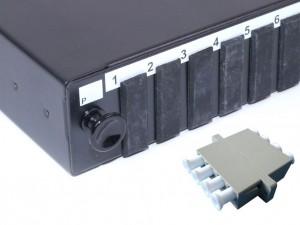 LC fibre patch panel Multimode Quad unloaded/loaded