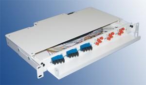 48 Port OM4 LC Fibre Splice and Patch Panel Sliding