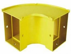 90 Degree Horizontal Bend 300mm Yellow