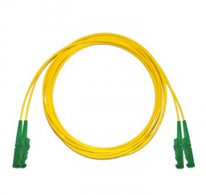 E2000 Angled - E2000 Angled Singlemode fibre patch lead Duplex 2m
