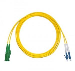 E2000 Angled - LC Singlemode fibre patch lead Duplex 2m