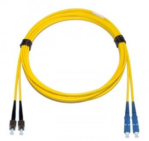 FC - SC Singlemode fibre patch cable Duplex 1m
