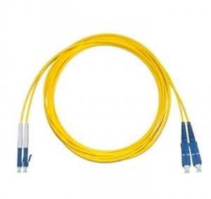 LC - SC Singlemode fibre patch lead Duplex 1m