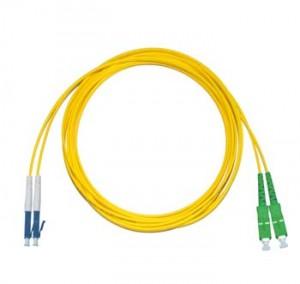 LC - SC/APC Singlemode fibre patch lead Duplex 1m
