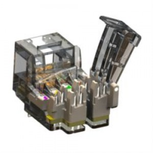 Augmented Cat6 Tool-Free UTP RJ45 Keystone Jack