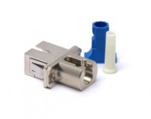 Hybrid LC-SC Fibre Coupler Adapter