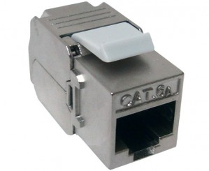 CAT6A Toolless RJ45 STP shielded Keystone Jack