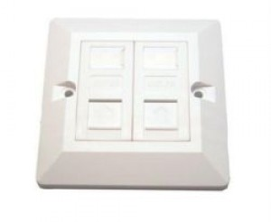 CAT5e Wall Mount Double Faceplate Module Kit