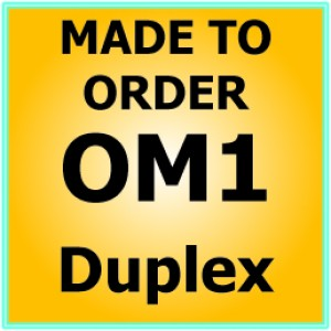 Multimode OM1 Armoured Fibre Patch Lead - Duplex