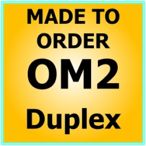 Multimode OM2 Armoured Fibre Patch Lead - Duplex