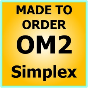 Multimode OM2 Armoured Fibre Patch Lead - Simplex
