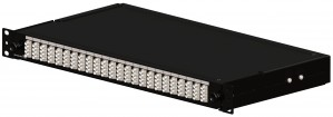 Brand-Rex Optical Panel loaded with 8 MT-RJ adapters