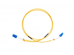 LC 45 deg boot - LC Singlemode fibre patch lead Duplex 1m