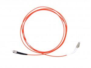 LC 45 deg boot - ST Multimode fibre patch cable 62.5/125 OM1 Simplex 2m