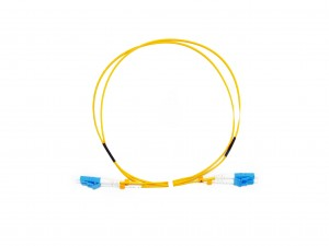 LC Short Boot Singlemode fibre patch lead 1.6mm Duplex 1m