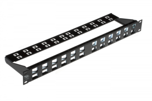 Brand-Rex 24 Port CAT6A / 10GPlus ANGLED Modular Patch Panel